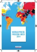 World Press Freedom Index 2014 Reporters Sans Frontieres