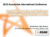India Land of Opportunity - ASAE IC...