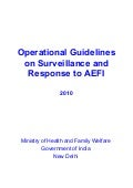 India AEFI guidelines final draft document