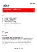 India Media Monitor (Issue 7, July 2009)