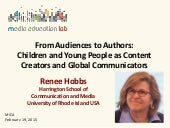 From Audiences to Authors: Children and Young People as Content Creators and Global Communicators