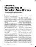 Redoctrinisation of the Indian Armed Forces