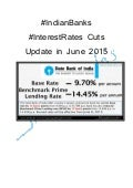 #Indian banks #InterestRates cuts update in June 2015