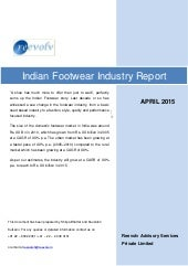 Indian footwear industry report - for illustration only