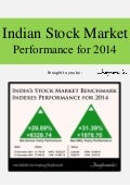 Indian Stock Market Benchmark Indexes BseSensex and NseNifty Performance for 2014