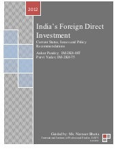 India FDI-Current Status, Issues an...