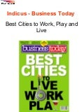 Indicus - Business Today - Best Cities to Work, Play and Live
