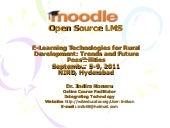 Moodle: Open Source LMS