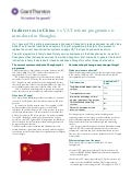 Grant Thornton - Indirect tax in China - a VAT reform programme is introduced in Shanghai 2012