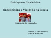 (In)Disciplina Na Escola Comp