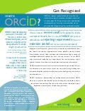 ORCID for Researchers and Scholars