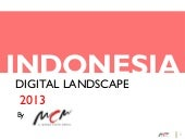 Indonesia digital landscape 2013