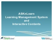 Learning Management System For School