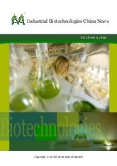 Industrial Biotechnology China News...