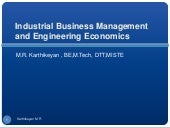 Industrial business management and ...