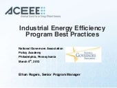 Industrial energy efficiency progra...