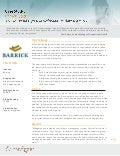 Case study: Barrick Gold Industrial Hygiene Software Implementation