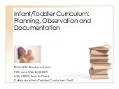 Infant toddler curriculum