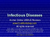 Infectious disease   - Archer USMLE...