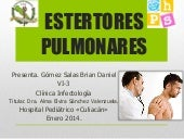 Infectologia estertores pulmonares