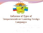 Influence of types of temperament o...
