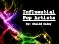 Influential Pop Artists