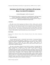 Information extraction using discourse
