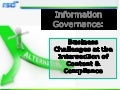 Information Govenance Webinar 17 Nov09
