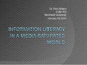Information literacy in a media-sat...