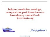 Informe estadístico, rankings, com...