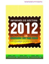 Informe gestion 2012 Guarne