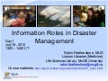 Information Roles in Disaster Management - Part 1