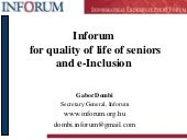 Inforum E-Inclusion Programs