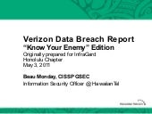 Know Your Enemy: Verizon Data Breac...