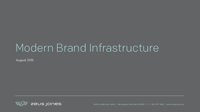 Infrastructure for modern brands