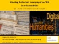 Reusing historical newspapers of KB in e-humanities - Case studies and examples of research projects