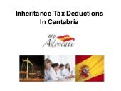 Inheritance tax deductions cantabria
