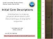 Initial Core Descriptions
