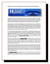 Initial government contract bids and tender information from h2bid