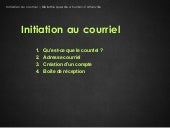 Initiation au courriel