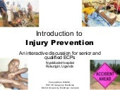 Introduction to Injury Prevention -...