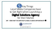 Guarantee Digital - 5 Keys for Media Companies when launching a digital agency