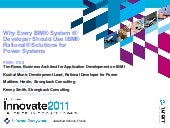 IBM Innovate 2011- What every System i Developer Needs to Know