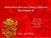 Innovation Driven China's Internet ...