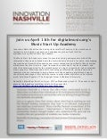 Innovation Nashville - Join us April 11th for  Digitalmusic.org's Music Start Up Academy