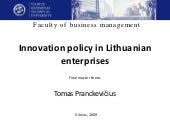 Innovation Policy In Lithuanian Ent...