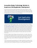 Innovative Design Technology Solution in Experience iPad Application Development