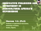 Innovative financing and investment...
