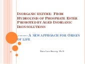 Inorganic enzyme - a new approach o...
