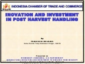 Innovation and investment in post h...